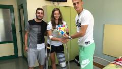 Футболистите на ЦСКА с уникален жест