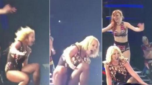 Бритни Спиърс се изплющя на сцената