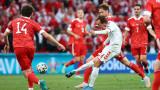 Русия - Дания 0:1, скандинавците с гол преднина на почивката