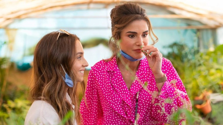 В началото на тази седмица кралицата на Йордания Рания посети