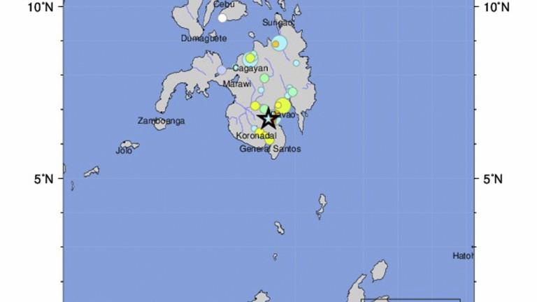 Земетресение с магнитуд 6,8 по скалата на Рихтер удари Филипините,