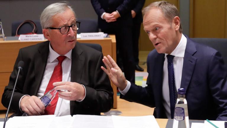 Председателят на ЕК Жан-Клод Юнкер маркира решението на лидерите на