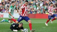 Атлетико (Мадрид) се завърна в Топ 4 след победа като гост над Бетис