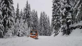 Сняг блокира за часове служители на пещера Леденика