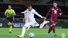 Милан с разгром в Торино, битката с Аталанта продължава