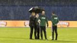 Проливен дъжд прекрати мача Хърватия - Косово