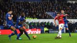 Лестър стигна до равенство при домакинството си на Манчестър Юнайтед