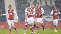 """Арсенал се съживява! """"Топчиите"""" със снежно голово шоу срещу УБА"""