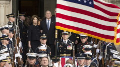 Петима президенти отдадоха последна почит към Джордж Буш-старши