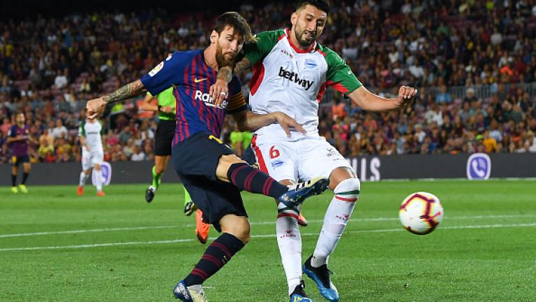 Звездата на Барселона Лионел Меси вкара два гола за успеха