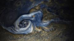 """Чудовищна буря на Юпитер – """"картина"""" от Juno"""