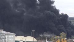 "Голям пожар пламна около района на бившия завод ""Сила"""