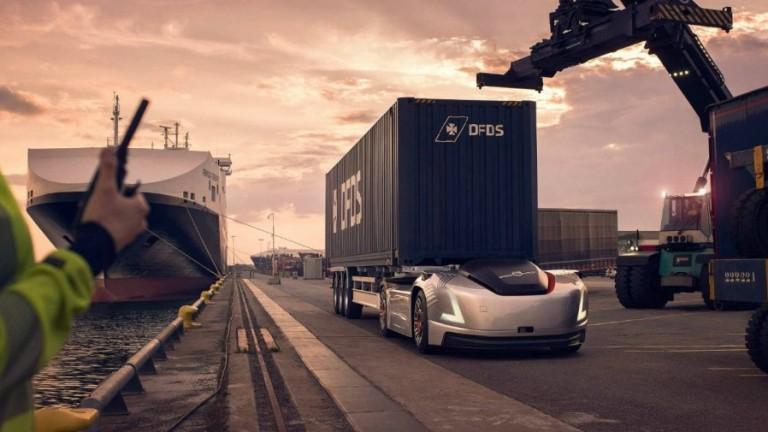 Безпилотните електрически камиони на Volvo Trucks, които нямат кабина, започнаха