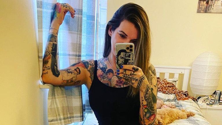 Жената с най-много татуировки, посветени на Еминем