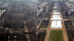 Лъсна истината за снимките от инаугурациите на Обама и Тръмп (ВИДЕО)