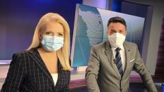 Словашки журналисти водят новините с маски