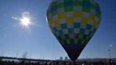 С балон хвърлиха кръста в Кърджали