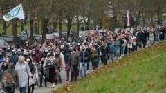 Хиляди протестиращи излязоха по улиците на Беларус