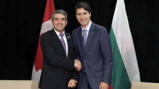 Двустранното сътрудничество и ЕС обсъдиха Плевнелиев и канадският премиер