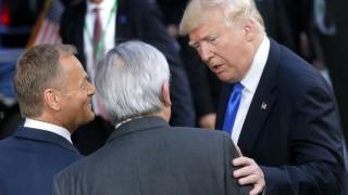 """Тръмп се хвали в Брюксел за """"грандиозното"""" посрещане в Саудитска Арабия"""