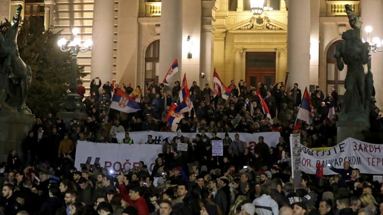 Поредна протестна събота в Сърбия, предаде АП. Агенцията отбелязва, че