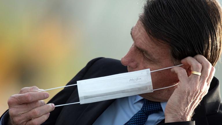 Бразилският президент Жаир Болсонару е с положителна проба за коронавирус,