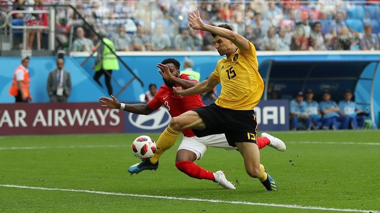 Белгия 1 : 0 Англия 11′ Удар на Стърлинг е