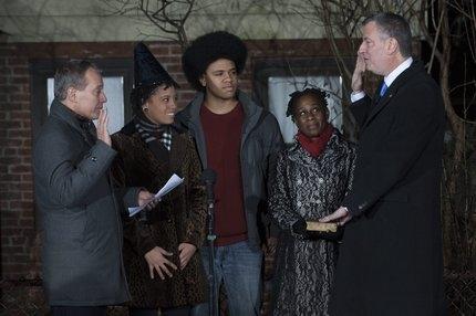 Бил де Блазио се закле като кмет на Ню Йорк