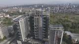 Вижте от птичи поглед строежа на 121-метровия небостъргач в София (ВИДЕО)