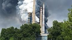 """Няма опасност за хората след пожара в ТЕЦ """"Марица Изток 2"""""""