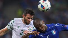 Италия – Република Ирландия 0:1 (Развой на срещата по минути)