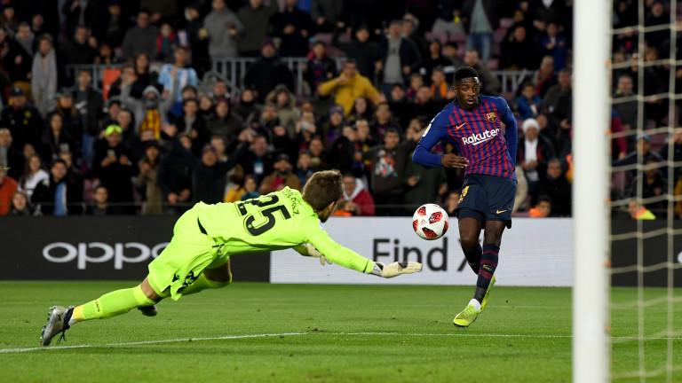 Усман Дембеле вкара два гола за снощната победа на Барселона