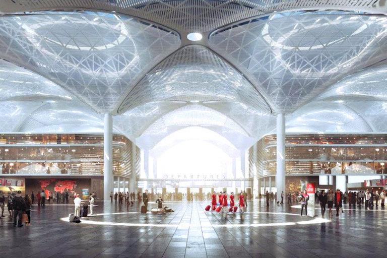 Летището ще разполага с няколко огромни терминала
