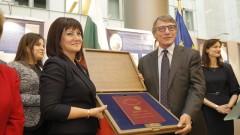 Караянчева и Сасоли почетоха с изложба 140 г. от Търновската конституция