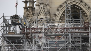 """Демонтират скелето на катедралата """"Норт Дам"""""""