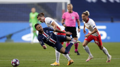 РБ Лайпциг - Пари Сен Жермен 0:3, голове на Маркиньос, Ди Мария и Бернат