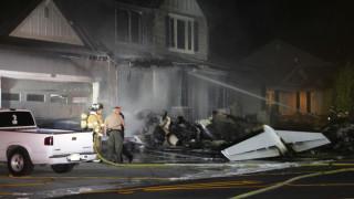 Мъж разби самолет в къщата си заради семеен скандал