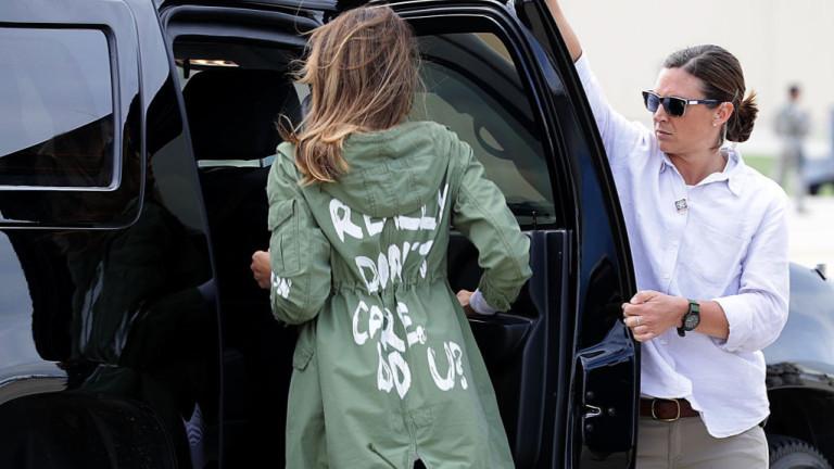 Мелания Тръмп направи много лош избор на облекло по време