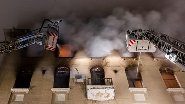Снимка: Петима загинали при пожар в жилищен блок в Москва
