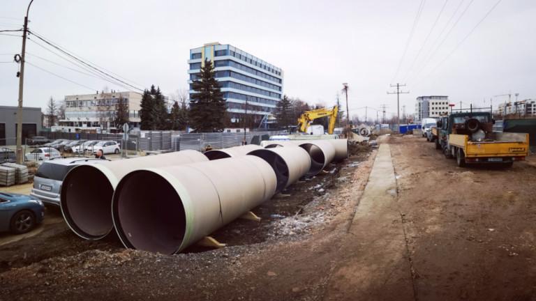 """Промени в движението в """"Лозенец"""" заради изграждането на 2 отливни канала"""