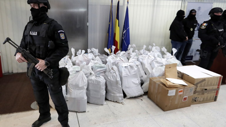 Румънските власти иззеха повече от един тон кокаин на стойност