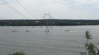 Силна буря в Гълъбово удари четири електропровода