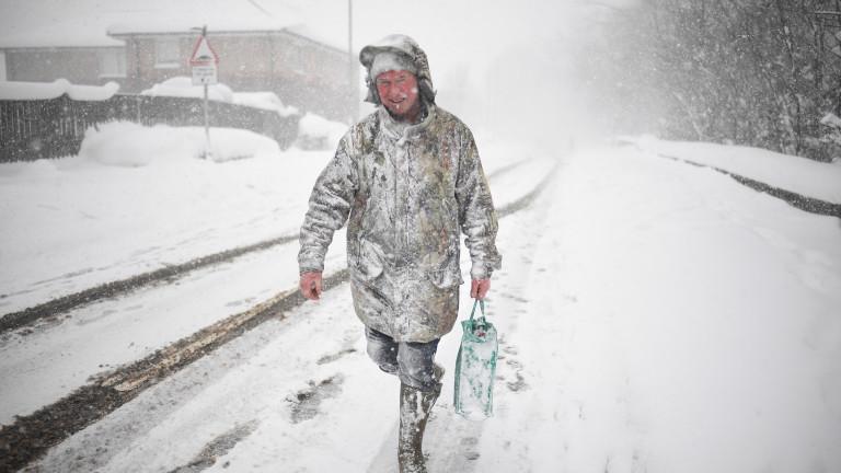 """Топли арктически морета причинили епичния сняг """"Звяра от изток"""" в Северна Европа"""