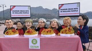Природозащитници спретнаха флашмоб с призив към Г-7 в Сицилия