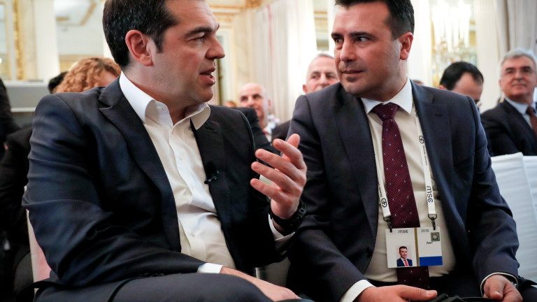 Премиерите на Гърция и Северна Македония Алексис Ципрас и Зоран