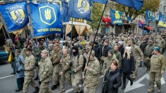 60 души на протест пред руското посолство в Киев