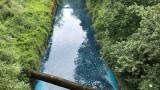 Слатинска река тече синя, институциите не знаят защо