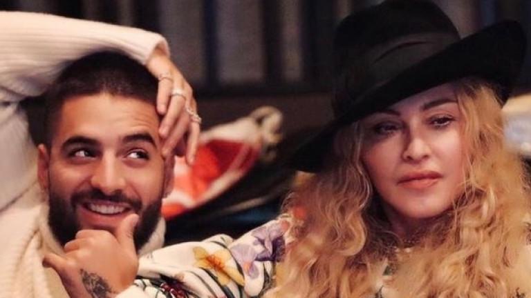 Снимка: Мадона и Малума в една неочаквано интимна комбинация