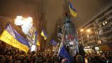 Три съборени паметници на Ленин в Украйна за пет дни