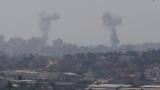 От Газа не спират да обстрелват Израел, той нанесе 35 въздушни удара